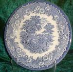 English Ironstone Kingswood Blue Chop Plate - Round Platter