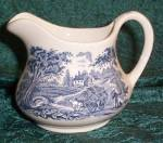 English Ironstone Kingswood Blue Open Creamer