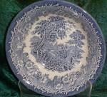 English Ironstone Kingswood Blue Round Vegetable - Open