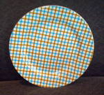 Essential Home Unmarked - Blue And Brown Plaid Salad Plate