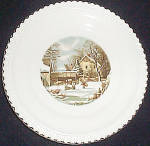Harker Currier & Ives Dinner Plate