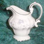 Johann Haviland Blue Garland (Platinum Trim) (Scalloped) (Bavaria) Open Creamer