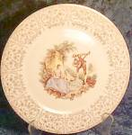 American Limoges China D'or Dinner Plate