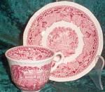 Mason's Vista (Pink) (Old Style) (Fine China) Demitasse Cup & Saucer