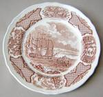Alfred Meakin Fair Winds (Brown) Salad Plate