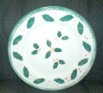 Montgomery Ward Holly Dinner Plate