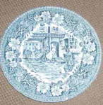 Royal Tudor Coaching Taverns (Teal) Bread & Butter Plate