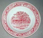 Royal Usa Memory Lane (Red) Rimmed Soup Bowl