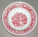 Royal Usa Memory Lane (Red) Fruit Or Dessert Bowl