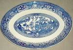 Royal Usa Blue Willow Medium Platter - Oval