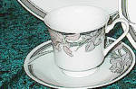 Silverie Sweet Iris Cup & Saucer - Footed