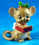Mouse With Red Carol Book