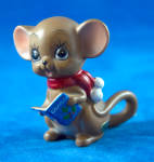 Mouse With Blue Carol Book