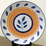 Tabletops Unlimited Autumn Blue Salad Plate