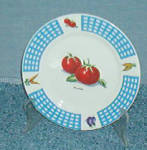 Tabletops Unlimited Fresh Vegetables Dinner Plate