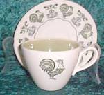 Taylor Stone Summer Morn Cup & Saucer - Flat