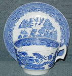 Wood & Sons Blue Willow Cup & Saucer - Flat