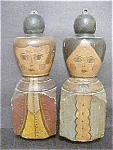 Folk Art Of Male & Female Busts