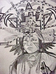 Native American Male - Ceremonial Dress Print