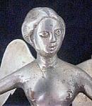 Antique Metal Angel Newel Post Top