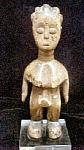Carved Wooden Ewe Ibeji Figure