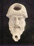 Figural Greek/roman Oil Lamp - Reproduction