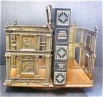 Antique Wood/brass Revolving Book Rack/stand