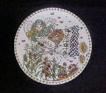 Folk Art Angel Watering Her Garden Tin