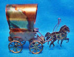 Horses And Comstock Wagon Music Box