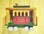 See's Candies Wood Railway Car/trolley
