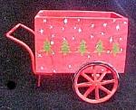 Wood/metal Holiday Wheel Cart