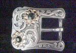Jeweled Western Belt Buckle - Ladies