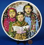 Carolers Christmas Plate English Ironstone In The Snow