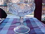 6'' Crystal Inverted Thistle Compote Footed Bowl