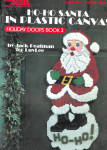 Ho Ho Santa In Plastic Canvas, Holiday Doors Book 3