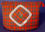 Vintage English Tea Cozy Tartan Plaid Thistle Padded