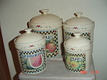 Susan Winget Vegetable And Fruit Canister Pears Only For Tea
