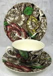 Myott Bermuda Chintz Cupa And Saucer With Matching Plate 1930s