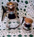 Pyrex Glass Coffee Carafe & Creamer Set