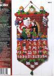 Must Be Santa Advent Calendar Felt 13 By 25 Inches Bucilla Plaid
