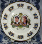 Prince Andrew And Fergie Souvenir Plate Royal Wedding