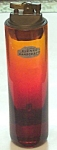 Blenko Table Lighter Amberina #7017 Tangerine Glass 7.5 In.