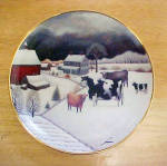 American Folk Art - Cows In Winter