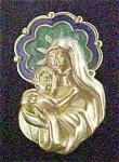 Virgin & Child Lapel Pin - Signed