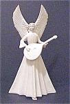 Vintage Porcelain Angel With Mandolin