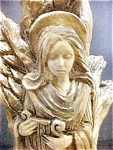 Fanciful Free Form Angel Candlestick