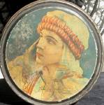 Vintage Rudolph Valentino Tin Silent Film Star Hollywood