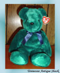 Ty Teddy Old Faced Teal Beanie Buddy
