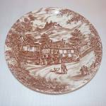 Broadhurst Swan Inn Brown Transferware Soup Bowl
