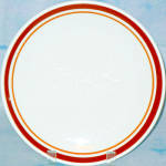 Homer Laughlin Brown Orange Band Dinner Plate